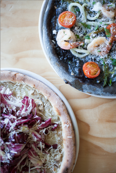 A25 Squid Ink and Truffle Pizza