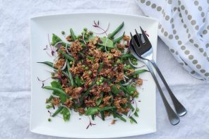 Green bean salad with John West Fiery Tuna