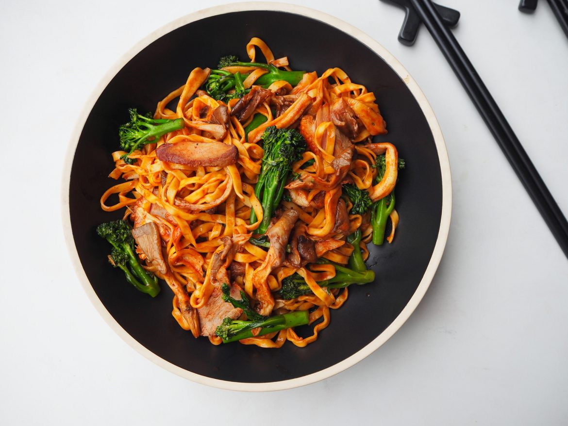 Duck And Oyster Mushroom Chow Mein